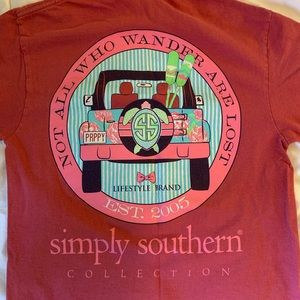 Red Simply Southern T-shirt